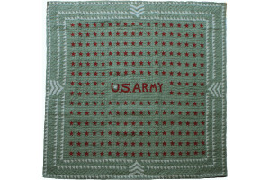 """U.S. Army Stars"" in Sage Cover-Up Quilt 57"" x 57"""