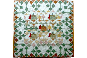 """Lodge Mountain"" Reversible Cover-Up Quilt 64"" x 64"""