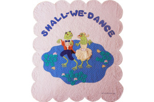 """Shall We Dance"" in Pink-Blue Crib Quilt 43.5"" x 53.5"""