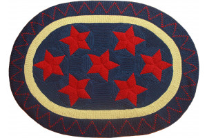 """""""Old Glory"""" in Old Blue with Red Stars"""