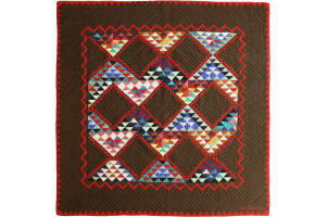 """Mississippi Backroads"" in Chocolate Cover-Up Quilt 59"" x 59"""