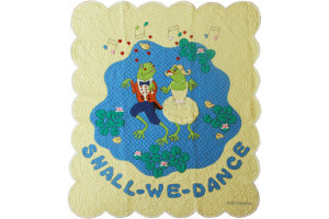"""Shall We Dance"" in Butter-Blue Crib Quilt 45.5"" x 53.5"""