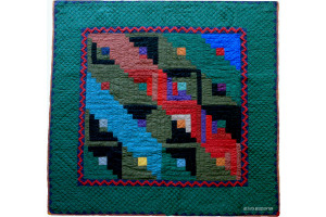 """Log Cabin"" Cover-Up Quilt 57"" x 57"""