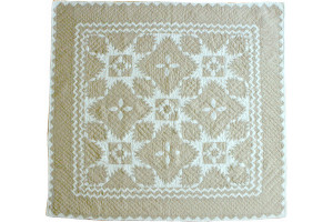 """Feathered Star"" in Champagne-White Cover-Up Quilt 54"" x 54"""