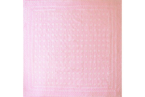 """Mini Star"" in Pink-White Cover-Up Quilt 57"" x 57"""