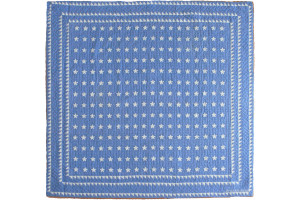 """Mini Star"" in Cornflower-White Cover-Up Quilt 57"" x 57"""