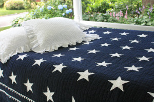 """Patriotic Stars"" in Navy-White"