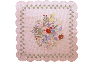"""Summertime"" in Rose Cover-Up Quilt 62"" x 62"""