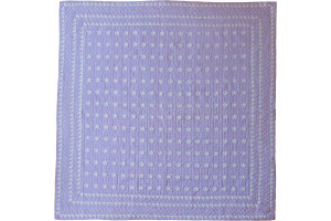 """Mini Star"" in Lavender-White Cover-Up Quilt 57"" x 57"""