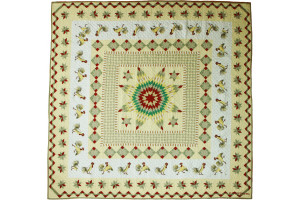 """Post Crossing"" Cover-Up Quilt 63"" x 63"""