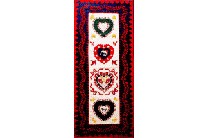 """Hampton Hearts"" Table Runner 38"" x 80"""
