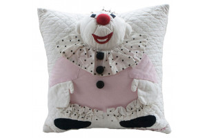 """Happy Clown"" Pillow. 100% cotton."