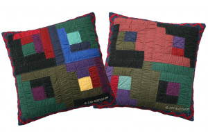 """Log Cabin"" Assorted Throw Pillows 18"" x 18"""