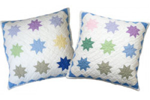 """Pastel Twinkle Stars"" Assorted Throw Pillows 16"" x 16"""