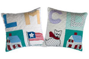 """Alphabet 4 Block"" Pillows. 100% cotton."