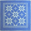 """Feathered Star"" in Cornflower-White"