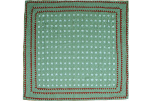 """Mini Star"" in Sage-White Cover-Up Quilt 57"" x 57"""