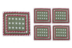 Patriotic Mini Stars White