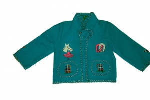 Beautiful Mexican Hand Made Child's Appliqued Jacket