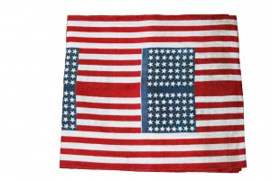 Patriotic Flag Fabric 26 X 568 inches length