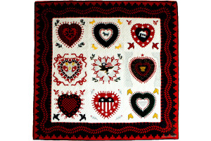 """Hampton Hearts"" Cover-Up Quilt 64"" x 64"""