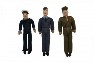 Service Dolls Hand Made Set of 3