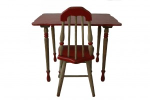 Hand Made Childs Table and Chair with Spindles