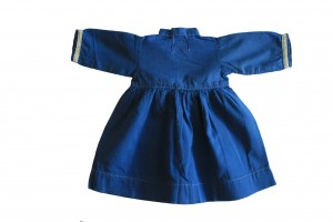 Amish Childs Royal Cotton dress with White trim- Made by Hand