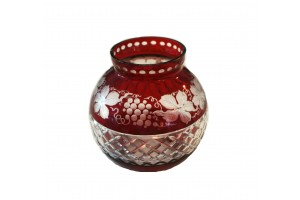 Antique Bohemian Ruby Red Roumanian