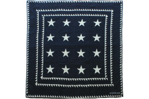 """Patriotic Stars"" in Navy-White Cover-Up Quilt 56"" x 56"""