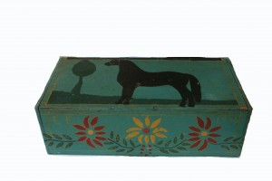 Amish Box Hand Painted with Horse Different View