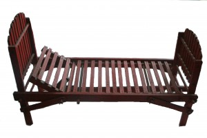 Doll's Wooden Summer Chaise with Red Slats