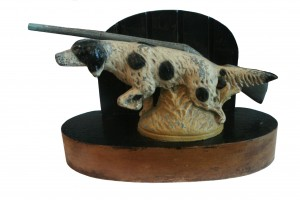 Hunting Dog and Gun Paper Weight