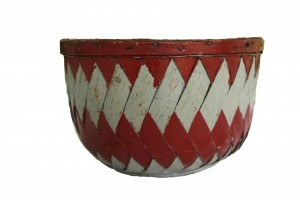 Red and and Silver Basket