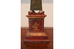 Obelisk early 1800's with Bronze Turtle supports on each center Corner