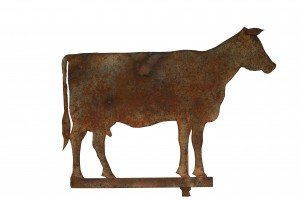 Wonderful Lancaster Co., Penna Flat Iron Amish Cow Weathervane  APPROX 31 IN H X 32 IN W