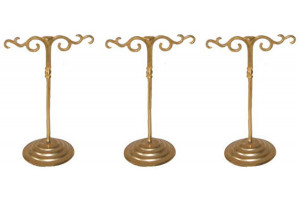 3 Small French Jewelry Display Stands