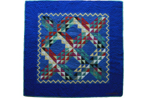 """Ocean Waves"" in Royal Cover-Up Quilt 50"" x 50"""