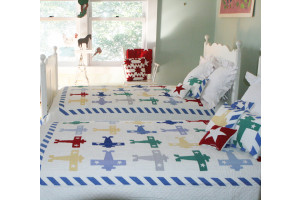 """Multi Plane"" Twin Quilt 64"" x 85"""