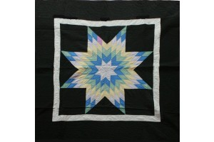 Amish Radiant Star with Black Border