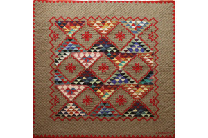 """Mississippi Backroads"" in Brush Cover-Up Quilt 59"" x 59"""
