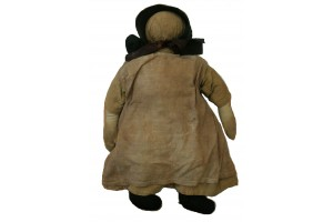 Amish Doll Mid 1800's one of many Antique Amish Dolls  as part of J.B Folk Art and Fantasy Collection.