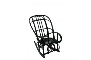 Rocking Chair Side View Kentucky  Painted Black with Black Horseshoe on front