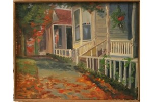 Oil Painting of New England Street