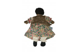 79.  Doll Wonderful Raggedy Ann Style Doll 18in H X 13 in Wide Skirt Undergarments w-Long White Bloomers  Part of JB Folk Art and Fantasy ( back) (See Front 1930's (See #80) $1,895 (98. Shipping).jpg