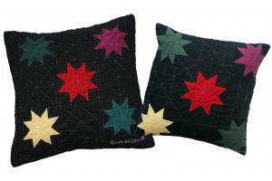 """8 Point Twinkle Star"" Throw Pillows"