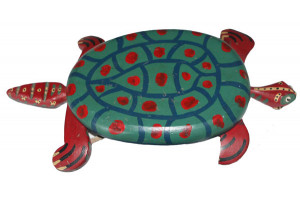 Antique American Hand Painted Turtle Pull Toy