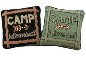 """Camp Adirondack"" Hand-Hooked Pillows"