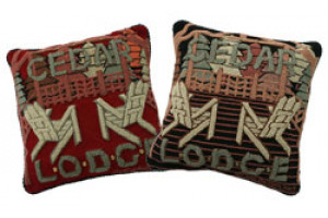 """Cedar Lodge"" Hand-Hooked Pillows"