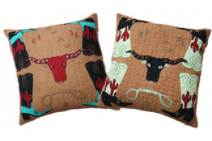 """Longhorn"" Throw Pillows"